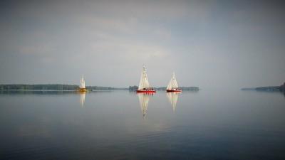 Nasze łódki naZalewie Sulejowskim